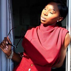 Zara sleeveless pleated top